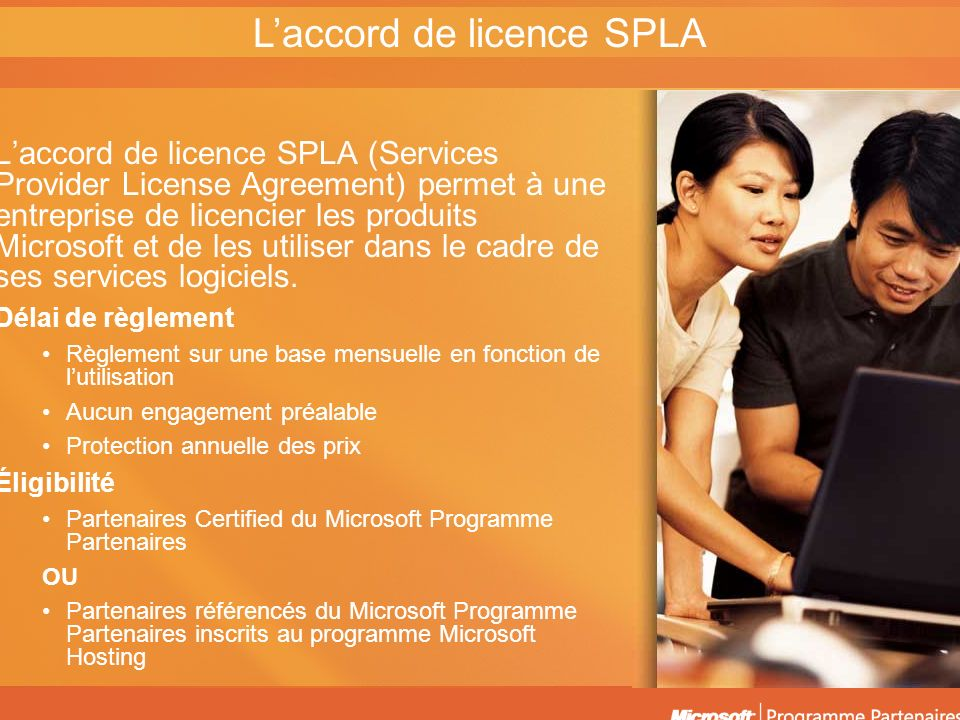 L'accord de licence SPLA
