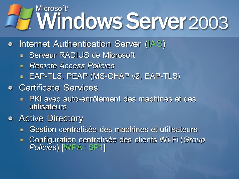 Internet Authentication Server (IAS)