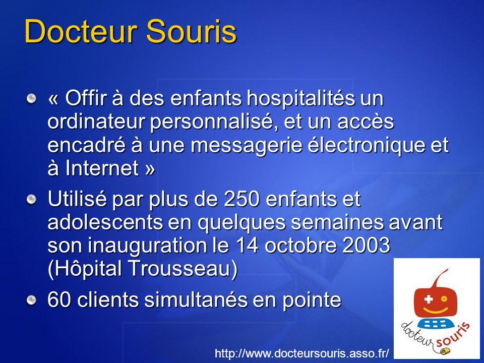 Docteur Souris « Offir à des enfants hospitalités un ordinateur personnalisé, et un accès encadré à une messagerie électronique et à Internet »