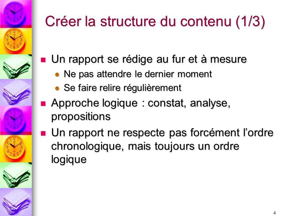 Créer la structure du contenu (1/3)