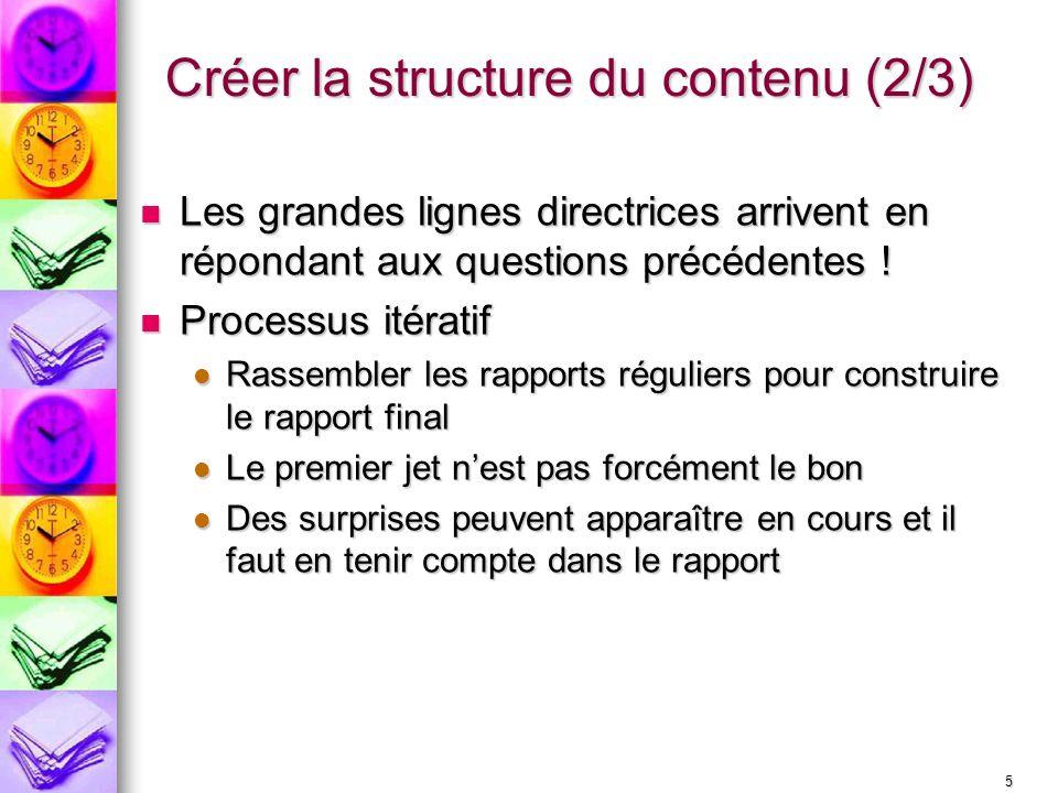 Créer la structure du contenu (2/3)