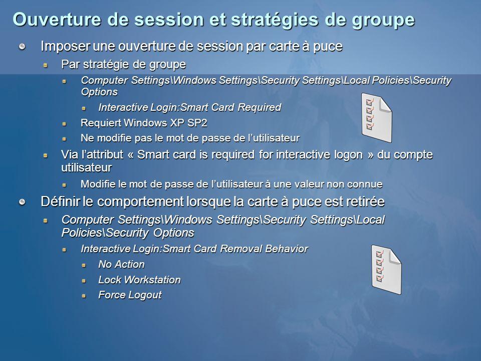 Ouverture de session et stratégies de groupe
