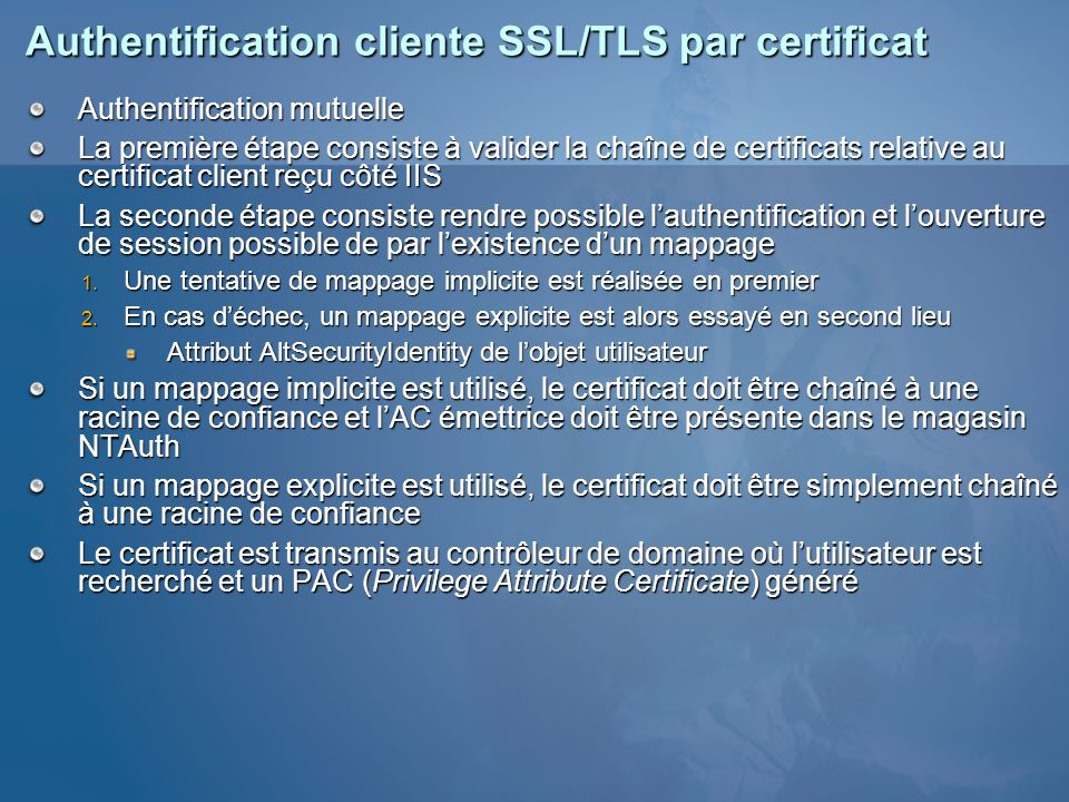 Authentification cliente SSL/TLS par certificat
