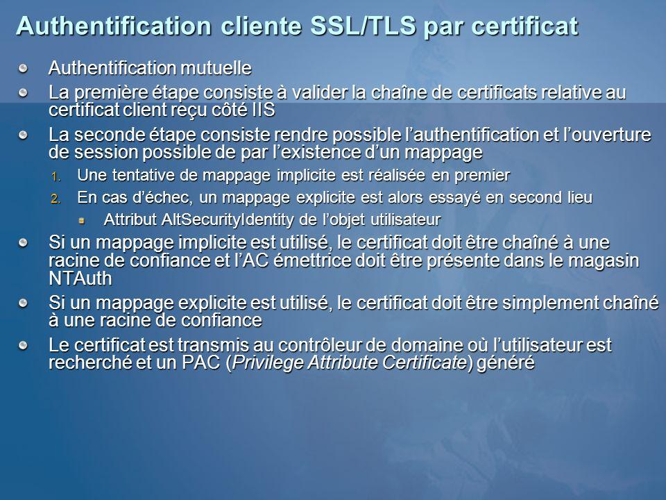 Authentification cliente SSL/TLS par certificat