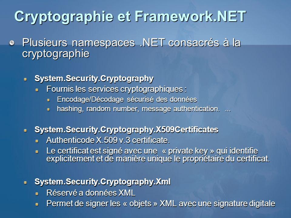 Cryptographie et Framework.NET