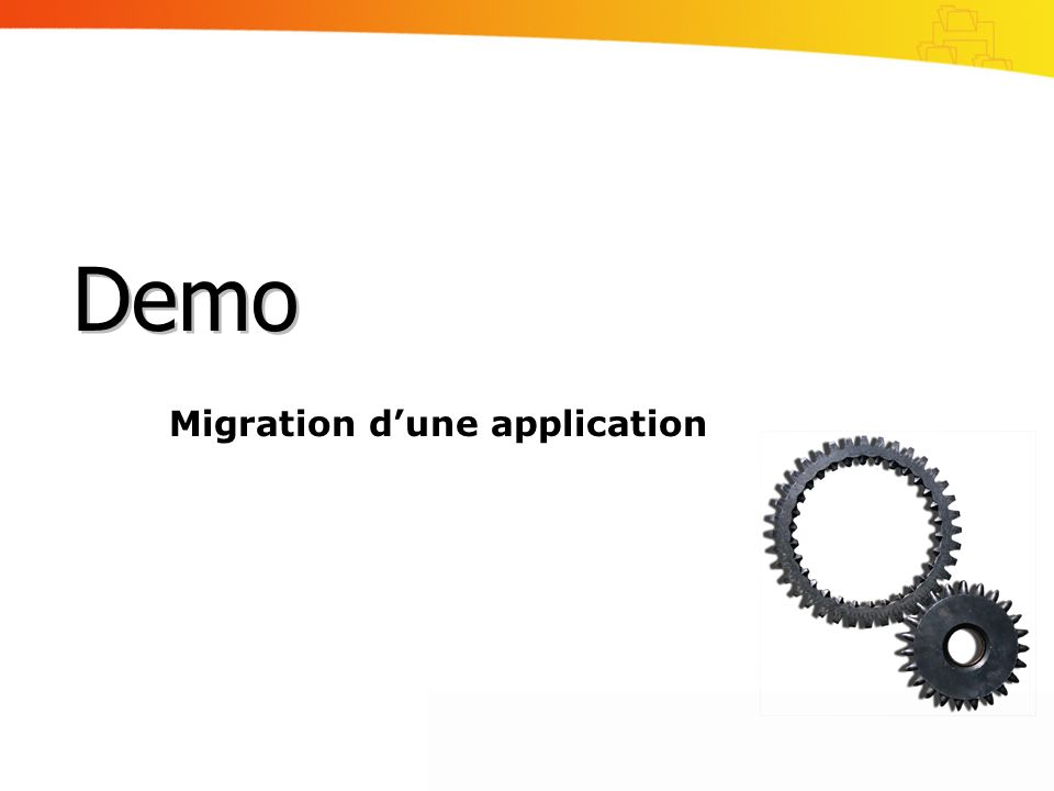 Migration d'une application
