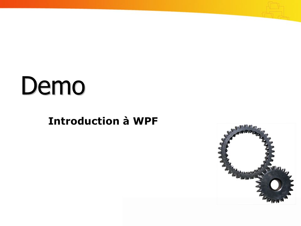 Demo Introduction à WPF
