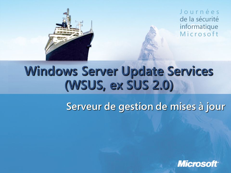 Windows Server Update Services (WSUS, ex SUS 2.0)
