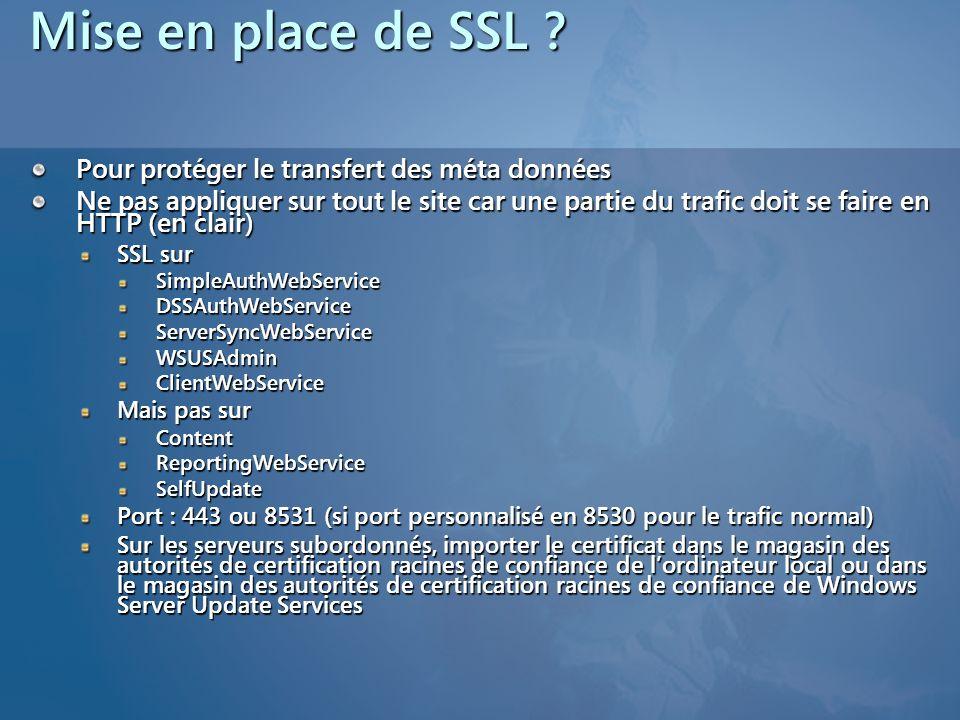 Mise en place de SSL Pour protéger le transfert des méta données