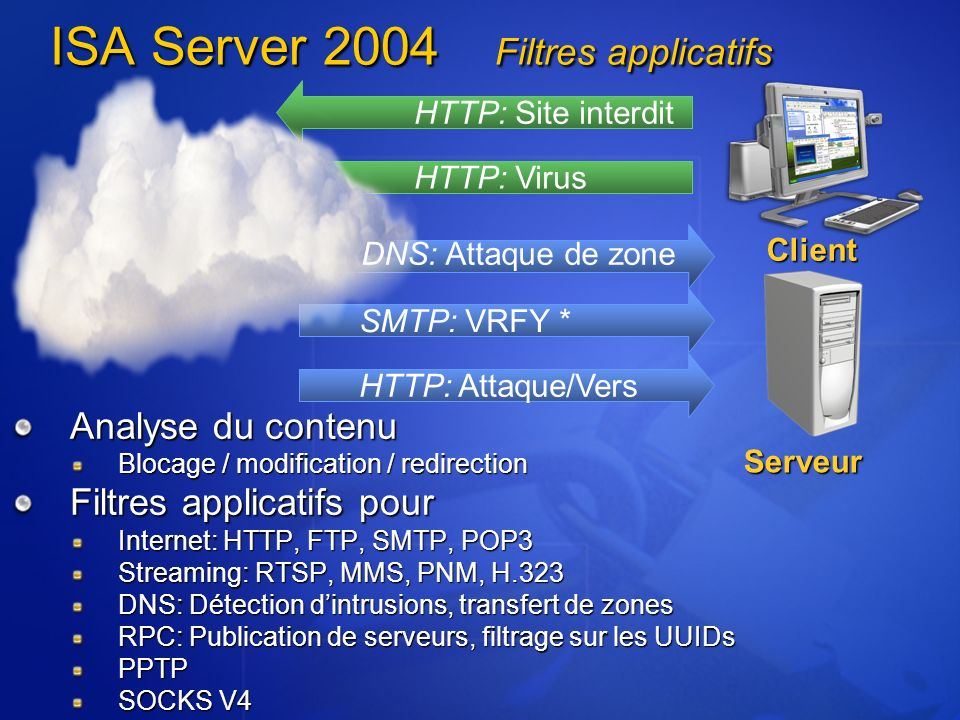 ISA Server 2004 Filtres applicatifs