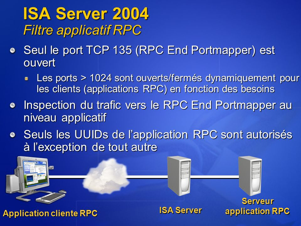 ISA Server 2004 Filtre applicatif RPC
