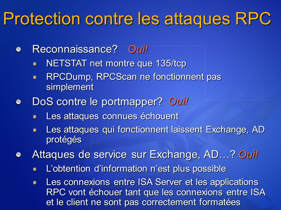 Protection contre les attaques RPC