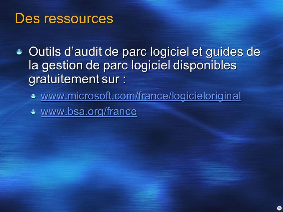 Des ressourcesOutils d'audit de parc logiciel et guides de la gestion de parc logiciel disponibles gratuitement sur :