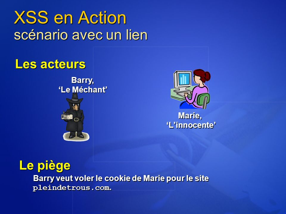 XSS en Action scénario avec un lien