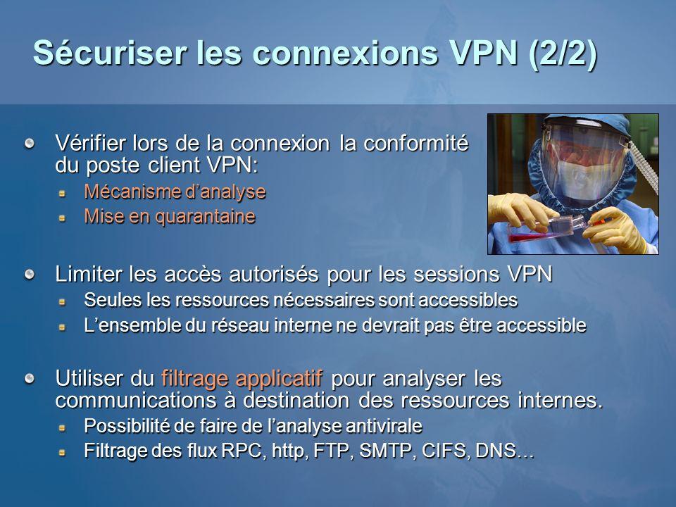 Sécuriser les connexions VPN (2/2)