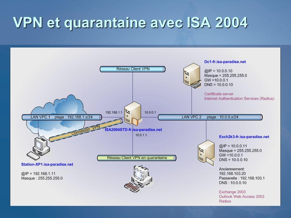VPN et quarantaine avec ISA 2004