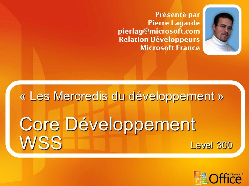 « Les Mercredis du développement » Core Développement WSS