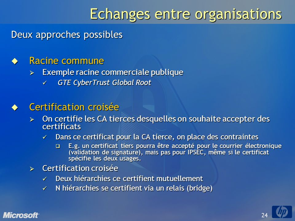 Echanges entre organisations