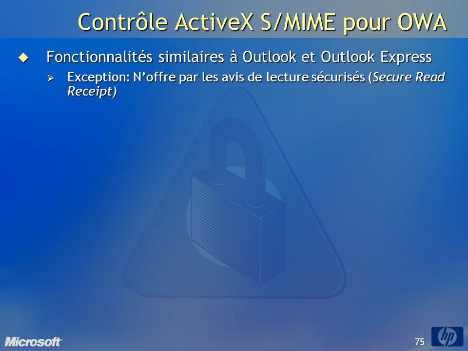 Contrôle ActiveX S/MIME pour OWA
