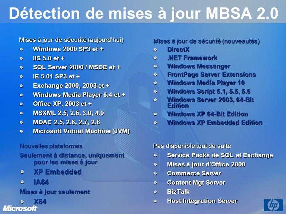 Détection de mises à jour MBSA 2.0