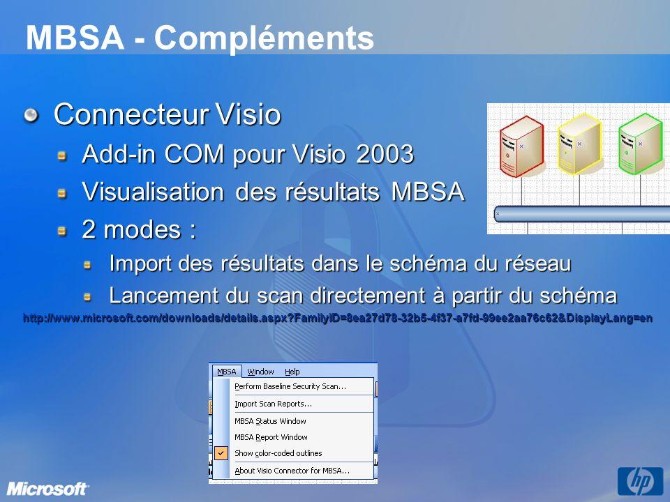 MBSA - Compléments Connecteur Visio Add-in COM pour Visio 2003