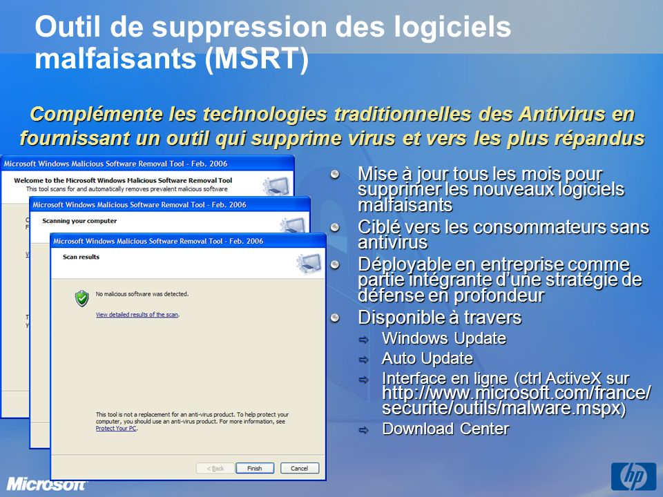 Outil de suppression des logiciels malfaisants (MSRT)
