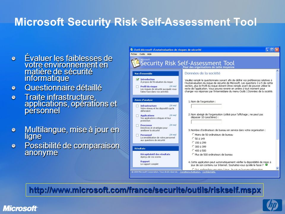 Microsoft Security Risk Self-Assessment Tool