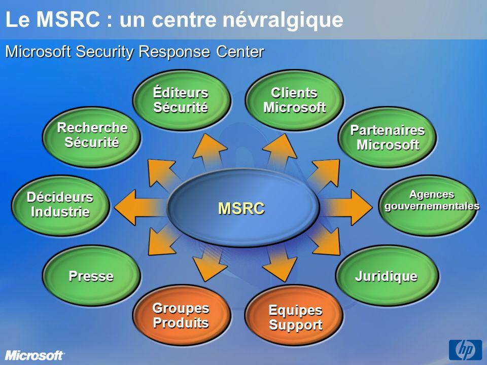 Le MSRC : un centre névralgique