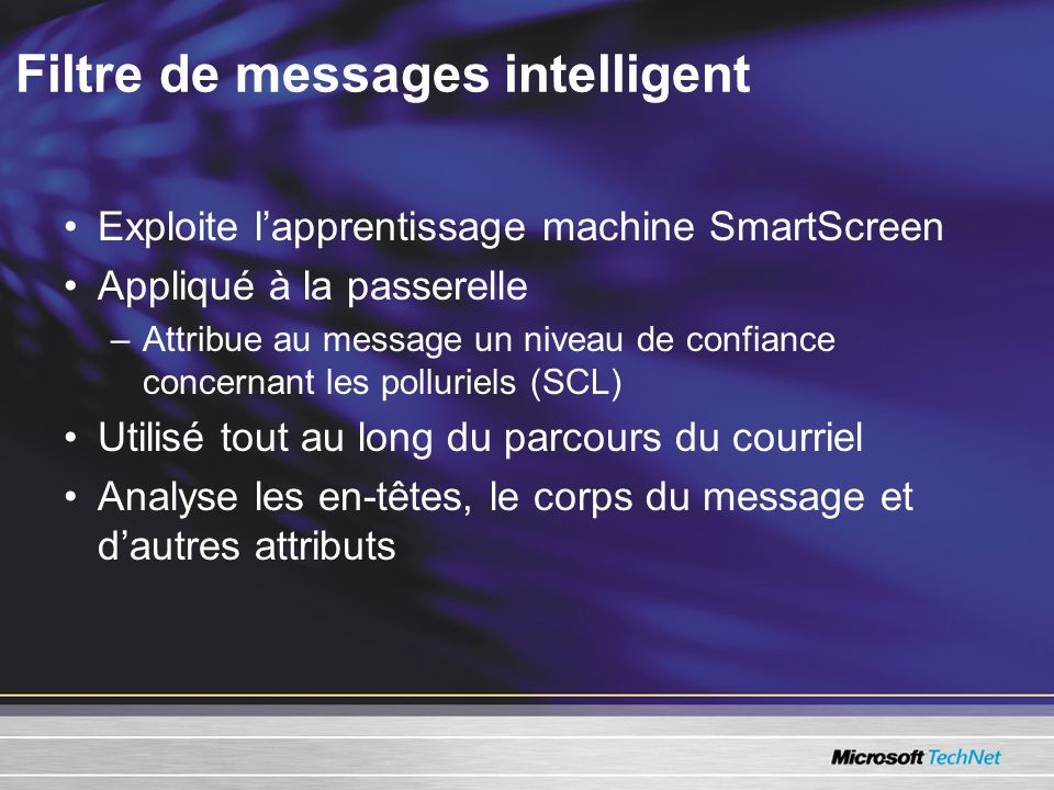 Filtre de messages intelligent