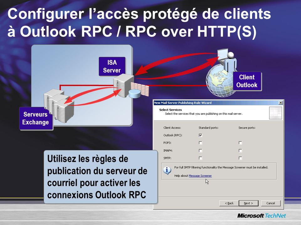 Configurer l'accès protégé de clients à Outlook RPC / RPC over HTTP(S)