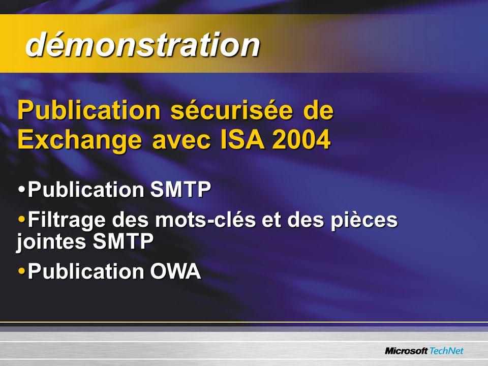 démonstration Publication sécurisée de Exchange avec ISA 2004