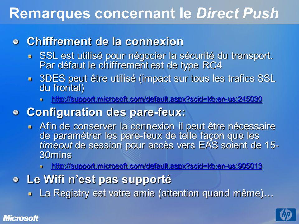 Remarques concernant le Direct Push