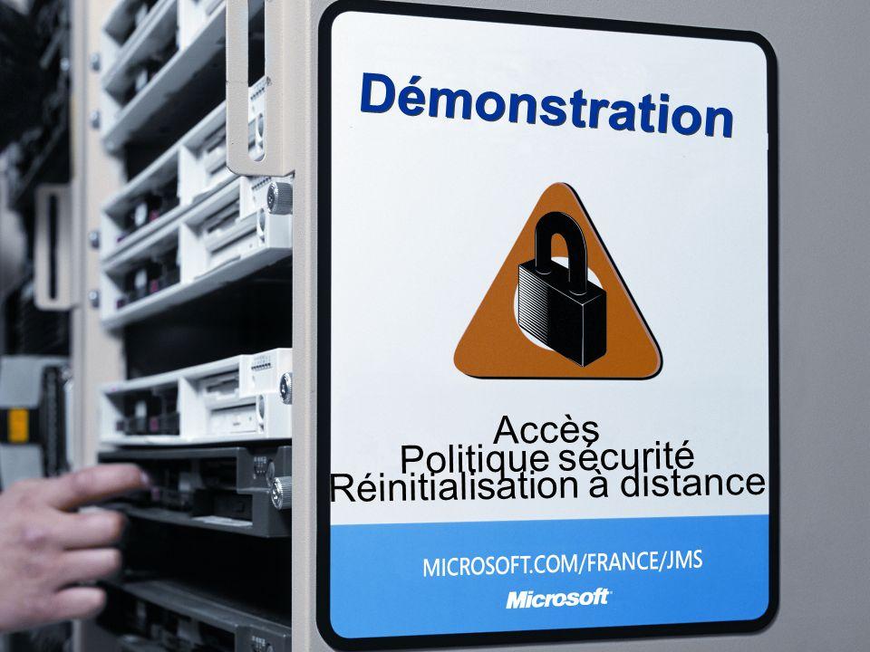 Accès Politique sécurité Réinitialisation à distance