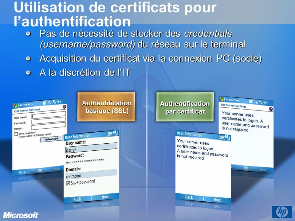 Utilisation de certificats pour l'authentification