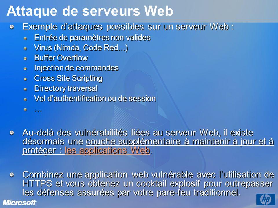 Attaque de serveurs Web
