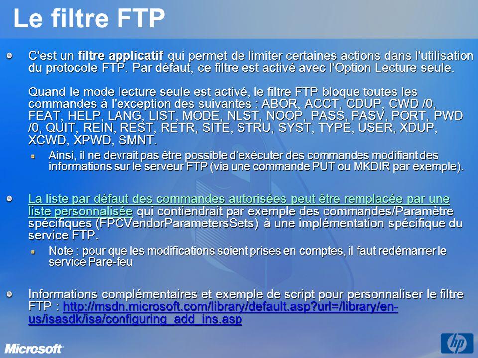 Le filtre FTP