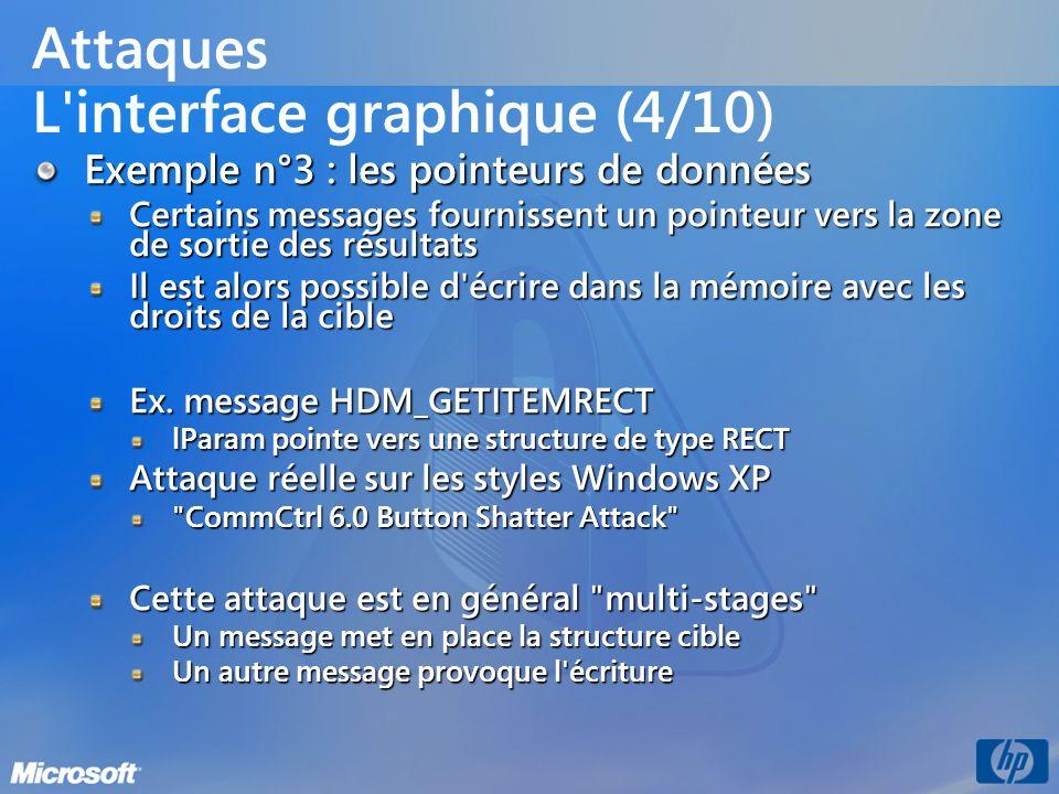 Attaques L interface graphique (4/10)