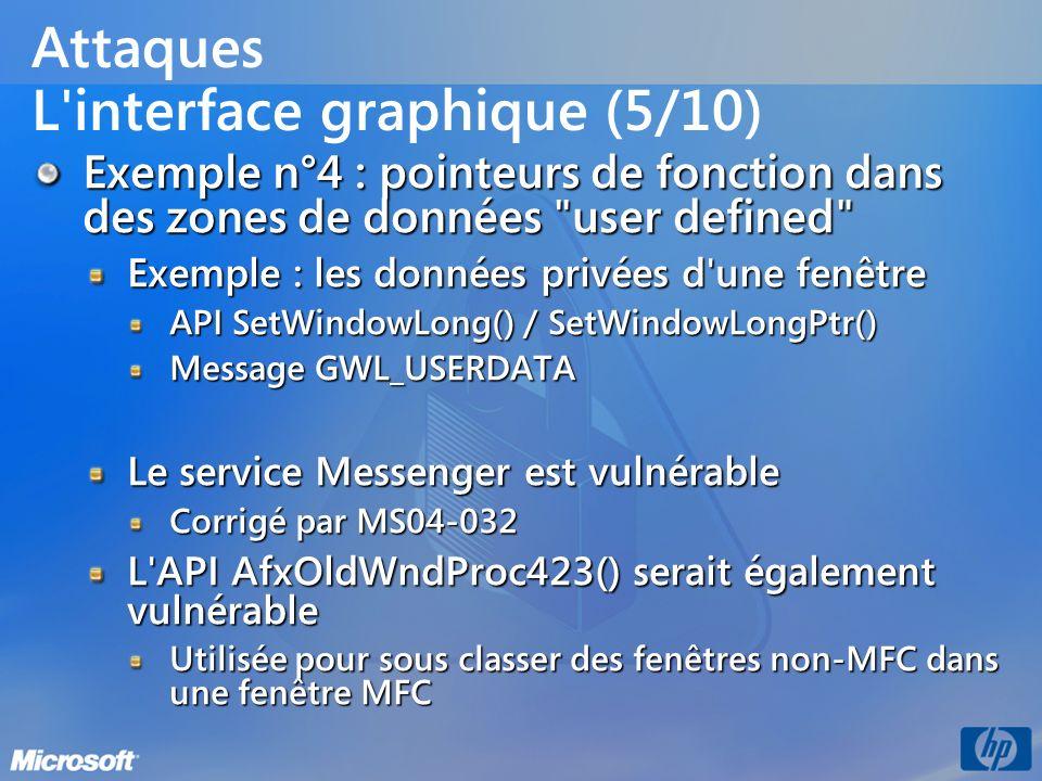 Attaques L interface graphique (5/10)