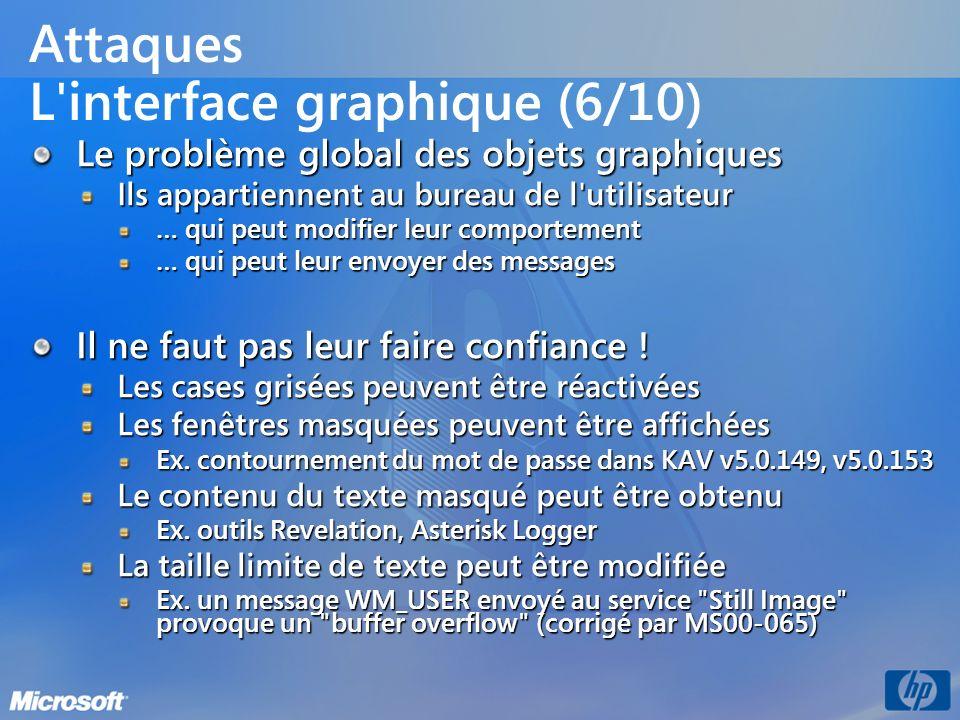 Attaques L interface graphique (6/10)
