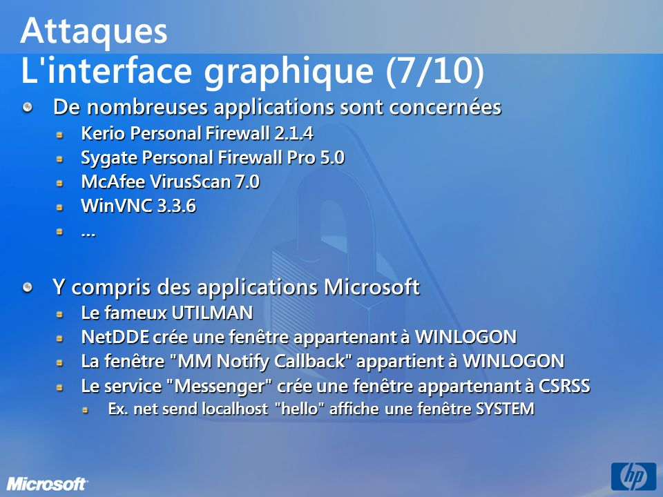 Attaques L interface graphique (7/10)