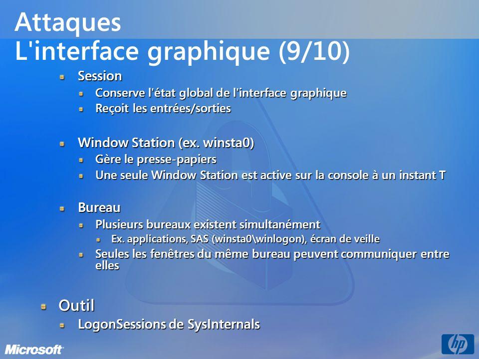 Attaques L interface graphique (9/10)