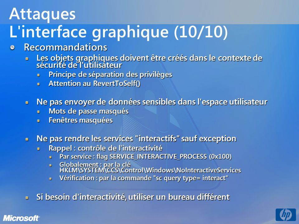 Attaques L interface graphique (10/10)