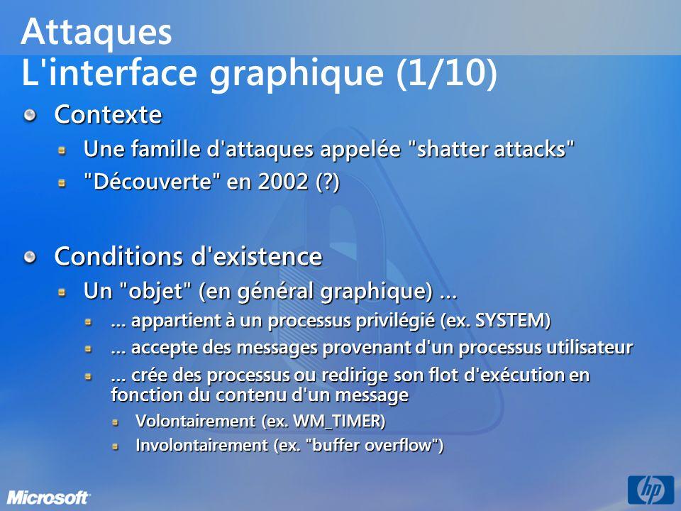 Attaques L interface graphique (1/10)