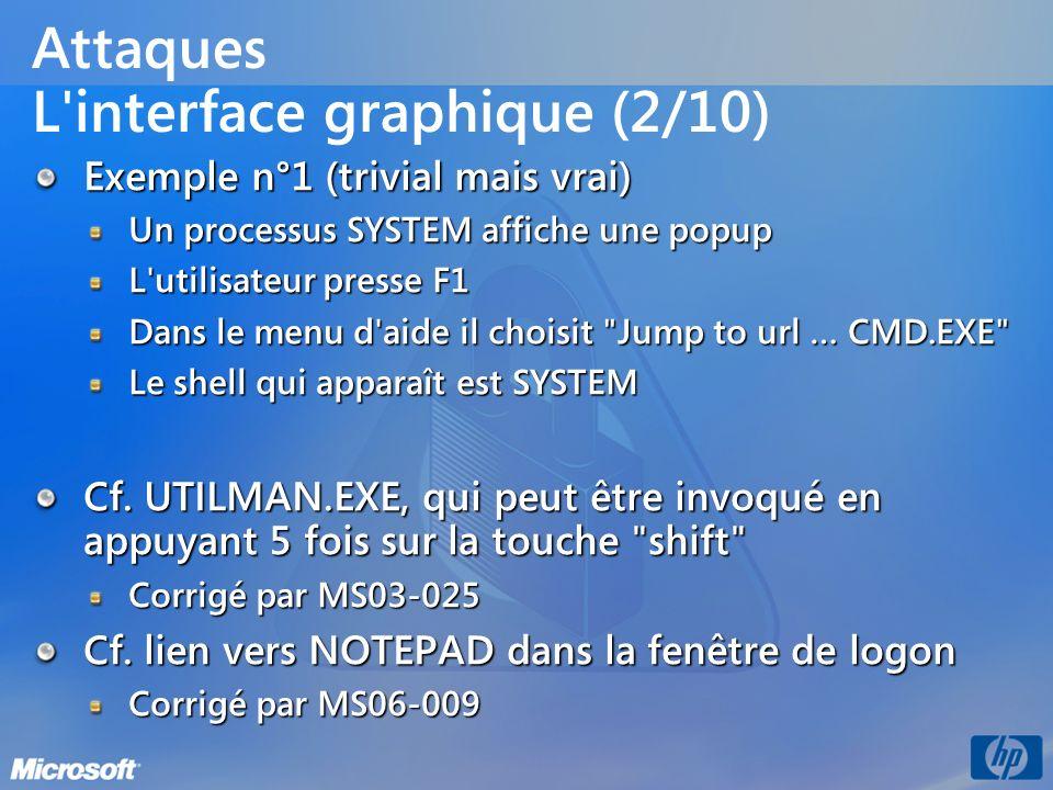 Attaques L interface graphique (2/10)