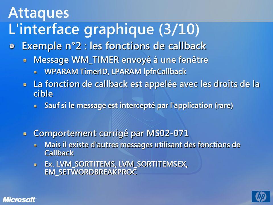 Attaques L interface graphique (3/10)