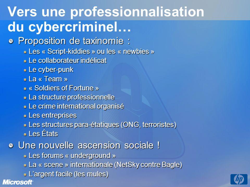 Vers une professionnalisation du cybercriminel…