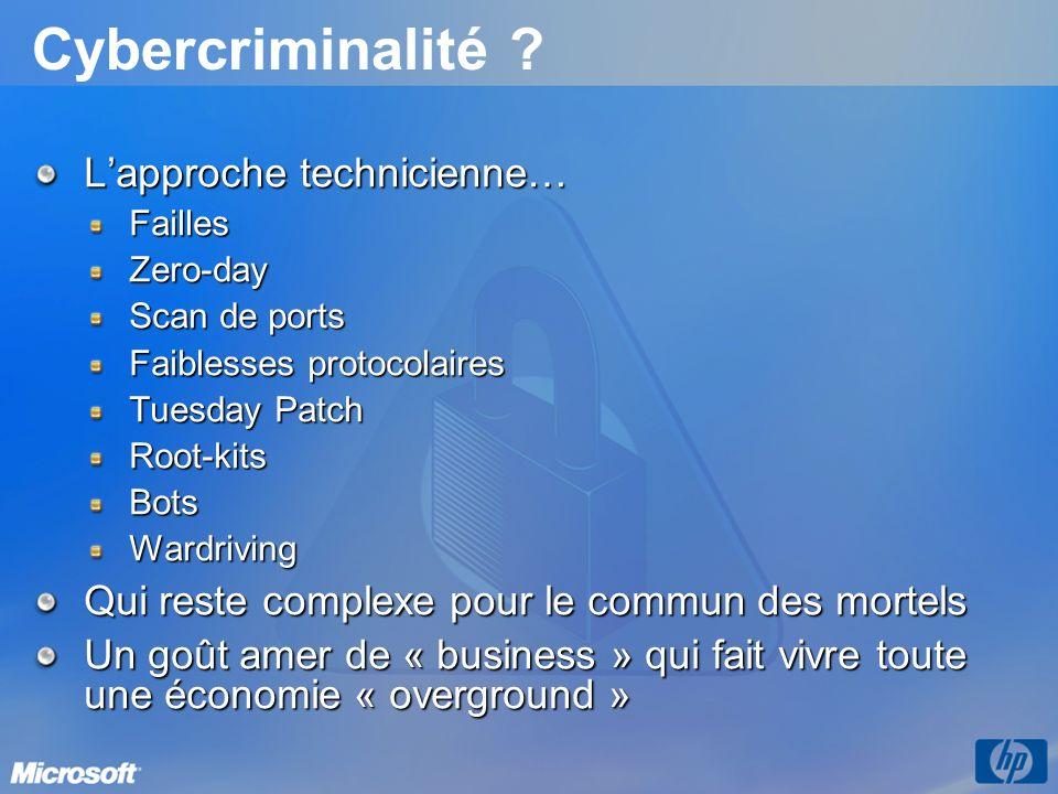 Cybercriminalité L'approche technicienne…