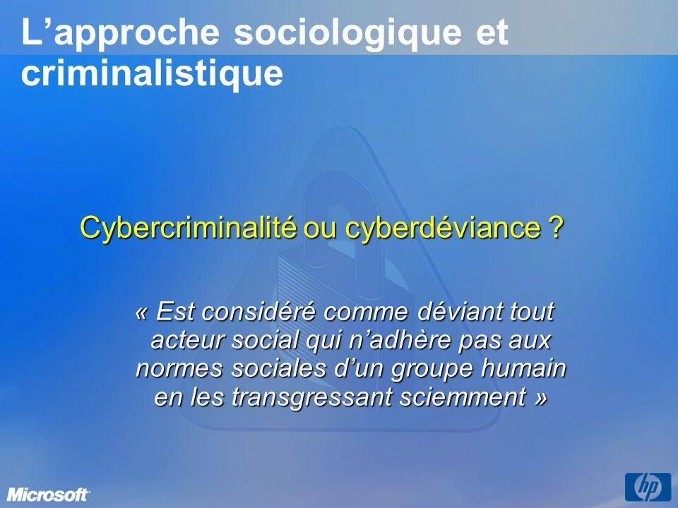 L'approche sociologique et criminalistique