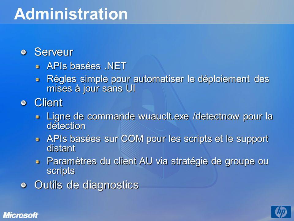 Administration Serveur Client Outils de diagnostics APIs basées .NET