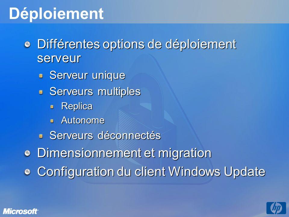 Déploiement Différentes options de déploiement serveur